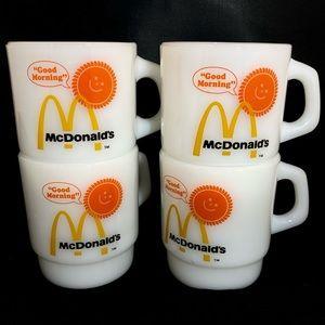 ANCHOR HOCKING Fire King OVENPROOF McDonald's Mugs